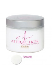 NSI Attraction Nail Powder: Pure White - 4.6oz / 130g