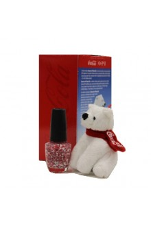 OPI Nail Lacquer - Coca Cola Holiday - Bearest of Them All - 0.5oz / 15ml - FREE Plush Bear