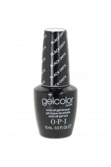 OPI GelColor - Soak Off Gel Polish - Black Onyx - 0.5oz / 15ml