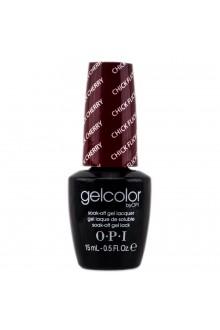 OPI GelColor - Soak Off Gel Polish - Chick Flick Cherry - 0.5oz / 15ml