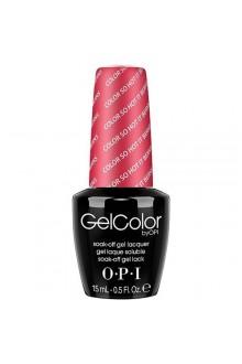 OPI GelColor - Soak Off Gel Polish - The Femme Fatales Collection - Color So Hot It Berns - 0.5oz / 15ml