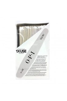 OPI Nail Files - Disposable 1X Use - Silver FL 700 - 150 / 180 Grit - 92pk