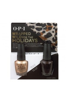 OPI Nail Lacquer - Wrapped for the Holidays Duo #1 - FREE Cheetah Print Scarf