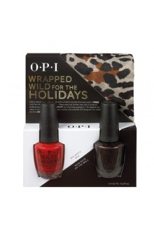 OPI Nail Lacquer - Wrapped for the Holidays Duo #2 - FREE Cheetah Print Scarf
