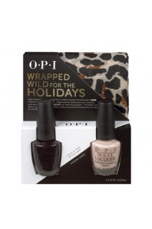 OPI Nail Lacquer - Wrapped for the Holidays Duo #3 - FREE Cheetah Print Scarf