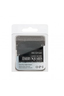 OPI Nail Files - Emery Squares - Black / Black - FL 956 - 180 / 320 Grit - 1pk