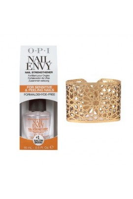 OPI - Envy & Lace - Nail Envy Nail Strengthener - 0.5oz / 15ml - FREE Lacy Cuff