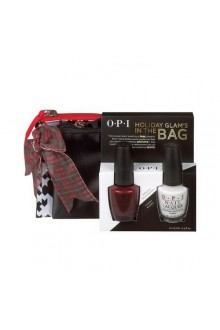 OPI Nail Lacquer - Holiday Glam's in the Bag - 0.5oz / 15ml each - FREE Cosmetic Bags