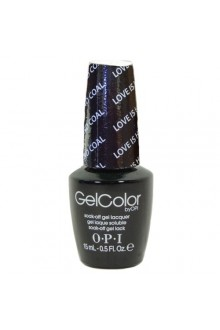 OPI GelColor - Gwen Stefani Holiday 2014 - Love is Hot and Coal - 0.5oz / 15ml