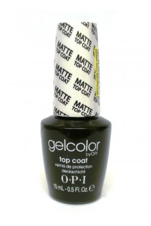 OPI GelColor - Soak Off Gel Polish - Matte Top Coat - 0.5oz / 15ml