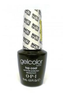 OPI GelColor - Soak Off Gel Polish - Matte Top Coat - 0.5oz / 15ml