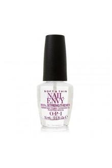 OPI Nail Envy Nail Strengthener - Soft & Thin Formula - 0.5oz / 15ml