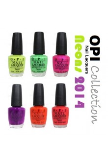 OPI Nail Lacquer - Neons 2014 Collection - 0.5oz / 15ml each - All 6 Colors