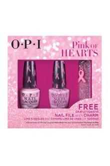 OPI Nail Lacquer - Pink of Hearts 2014 w/ FREE Nail File & Pink Ribbon Charm
