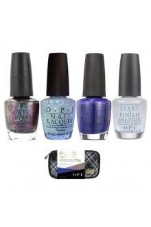 OPI Nail Lacquer - Plaid About You - 0.5oz / 15ml each - FREE Cosmetic Case