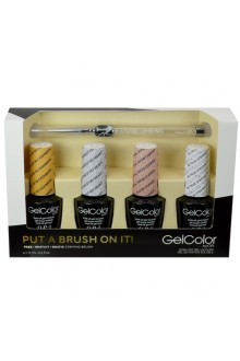 OPI GelColor - Put A Brush On It! - 0.5oz / 15ml each - FREE Striping Brush