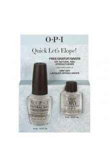 OPI - Quick Let's Elope! - Drip Dry & FREE Natural Nail Strengthener