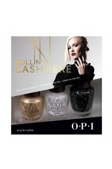 OPI Nail Lacquer - Gwen Stefani Holiday 2014 - Rollin in Cashmere Trio - 0.5oz / 15ml each