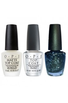 OPI Nail Lacquer - Sheer to the Top - Top Coats Kit -  0.5oz / 15ml each