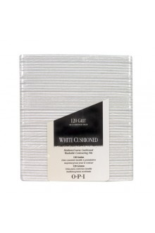 OPI Nail Files - White Cushioned FL 291 - 120 Grit - 48pk