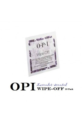 OPI - Acetone-Free Lacquer Remover Wraps - WIPE-OFF! - Lavender Scented - 10pk