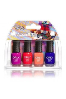 Orly Nail Lacquer Mani Minis - Adrenaline Rush - 4 X 0.18oz / 5.3ml