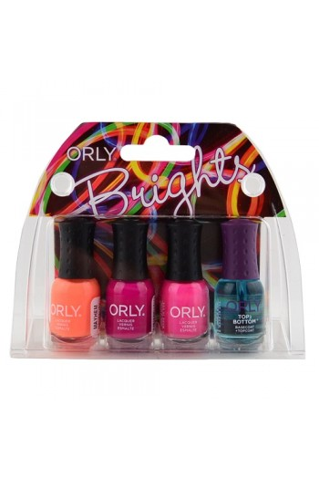 Orly Nail Lacquer Mani Minis - Brights - 4 X 0.18oz / 5.3ml