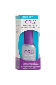 Orly Nail Treatment - Sec 'N Dry - Quick-Dry Topcoat - 0.6oz / 18ml