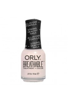 Orly Breathable Nail Lacquer - Treatment + Color - Barely There - 0.6oz / 18ml