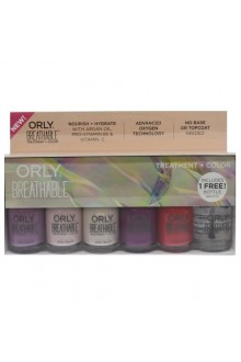 Orly Breathable Nail Lacquer - Treatment + Color - 6 Piece Kit - 0.6oz / 18ml Each