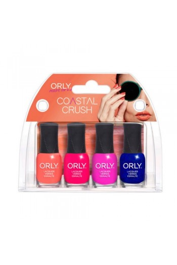 Orly Nail Lacquer - Coastal Crush Summer 2017 Collection - Mini 4pc Kit - 0.18oz / 5.3ml Each