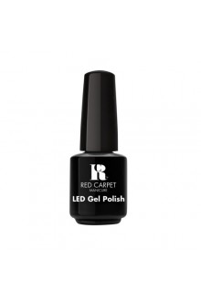 Red Carpet Manicure LED Gel Polish - Black Stretch Limo - 0.3oz / 9ml
