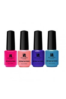 Red Carpet Manicure LED Gel Polish - Life's A Beach 2015 Collection - 0.3oz / 9ml Each - All 4 Colors