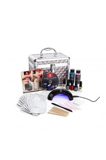 Red Carpet Manicure - Train Case - Celebrity Manicurist Ultimate Gel Polish Pro Kit