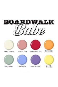 SuperNail ProGel Polish - Boardwalk Babe Collection - 0.5oz / 14ml each - All 8 Colors