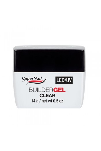 Supernail LED/UV Builder Gel Clear - 0.5oz / 14g