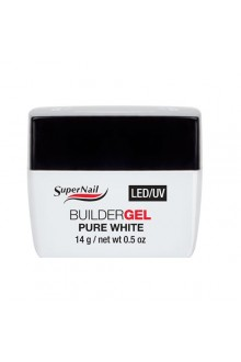 Supernail LED/UV Builder Gel Pure White - 0.5oz / 14g