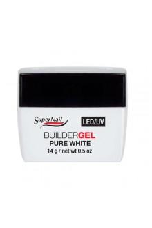 Supernail LED/UV Builder Gel Pure White - 0.5oz / 14g