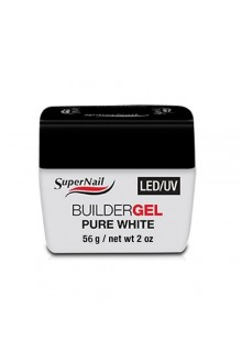Supernail LED/UV Builder Gel Pure White - 2oz / 56g