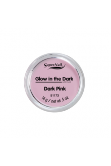 SuperNail Acrylic Powder - Glow in the Dark - Dark Pink - 0.5oz / 14g