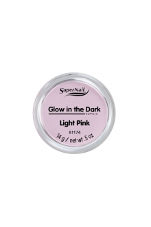 SuperNail Acrylic Powder - Glow in the Dark - Light Pink - 0.5oz / 14g