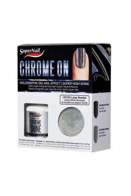 SuperNail - Chrome On - Holographic Gel Nail Effect Kit