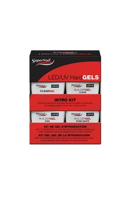 SuperNail LED/UV Hard Gels - Intro Kit - 0.5oz / 14g EACH