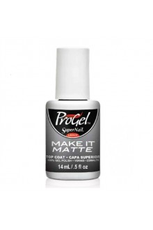 SuperNail ProGel Polish - Make It Matte Top Coat - 0.5oz / 14ml