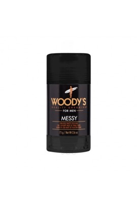 Woody's Quality Grooming - Messy - Firm Hold Matte Stick Wax - 2.6oz / 75g